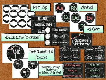 Chalkboard Classroom Theme Pack