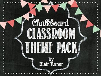 chalkboard classroom theme pack by blair turner tpt