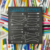 Chalkboard Clip Art Frames, Arrows and Banners - 20+ PNG a