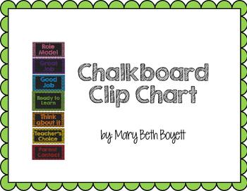 Chalkboard Clip Chart