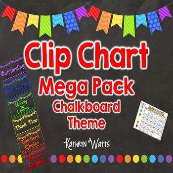 Chalkboard Clip Chart Mega Pack