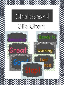 Chalkboard Clip Chart PreK-1st