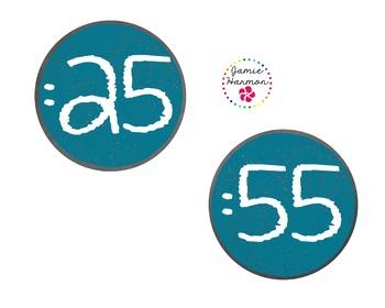 Chalkboard Clock Numbers & Labels