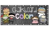 Chalkboard Color Cards