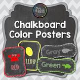 Chevron Chalkboard Color Identification Printable Poster Set