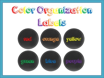 Chalkboard Color Labels {freebie}