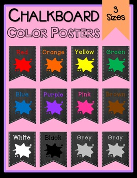 Chalkboard Color Posters