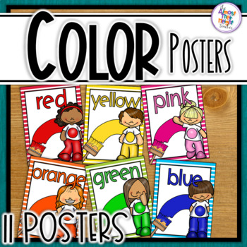 Color Posters for your classroom with bright frames