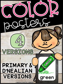 Chalkboard Color Posters - Chalkboard Classroom Decor