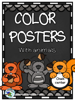 Chalkboard Color Posters with animals