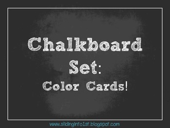Chalkboard Color Signs {white}
