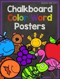 Chalkboard Color Word Posters - Bold and Bright