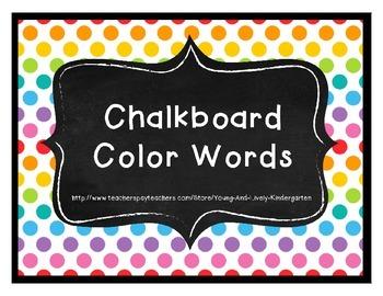 Chalkboard Color Words