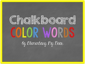 Chalkboard Color Words