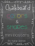 Chalkboard Colors and Shapes {mini posters}