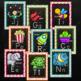 Chalkboard Confetti Alphabet Posters