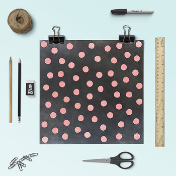 Chalkboard Confetti Digital Paper