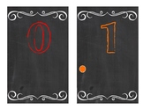 Chalkboard Counting Cards