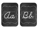 Chalkboard Cursive Alphabet Letters
