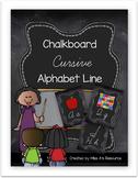 Chalkboard Cursive Alphabet Line