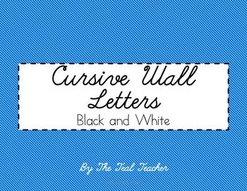 Chalkboard Cursive Wall Letters