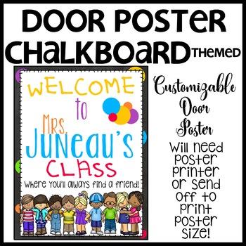 Chalkboard Customizable Door Sign