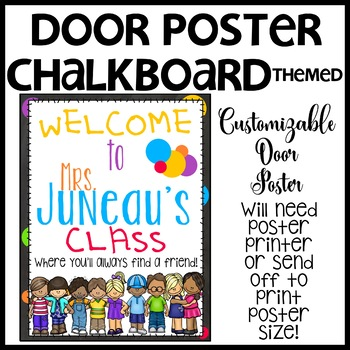 Chalkboard Customizable Door Sign