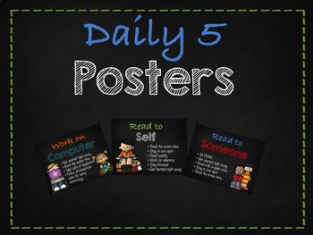 Chalkboard Daily 5 Posters