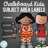Chalkboard Daily Objective Subject Area Labels Freebie - S