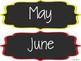 Rainbow Chalkboard Days, Months & Seasons