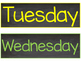 Chalkboard Days of the Week & Months of the Year Poster Cards