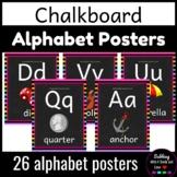 Chalkboard Decor: Alphabet Letters A-Z Poster Set