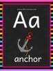 Chalkboard Decor: Alphabet Letters A-Z Poster Set #8daysof