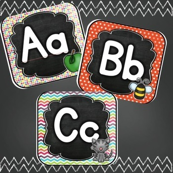 Vintage Chalkboard Bundle: ABC Line, Genre Posters, Supply Labels