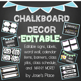 Chalkboard Decor EDITABLE Labels, Jobs, Numbers, Signs, Calendar & More!