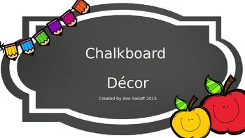 Chalkboard Decor Freebie
