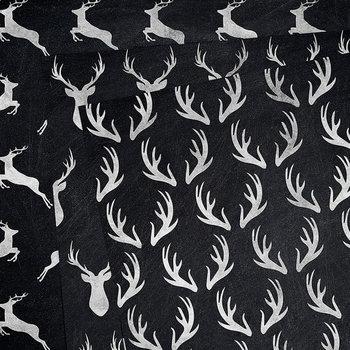 Chalkboard Deers Digital Paper, Deers & Antlers Patterns