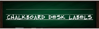 Desk Labels in Chalkboard {editable}