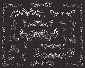Chalkboard Digital Flourish Swirl Border Frame Clip Art Border Frame Ornate