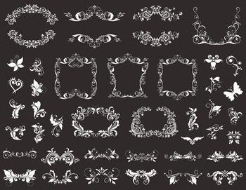 Chalkboard Digital Flourish Swirl Frame Clip Art Scrapbook