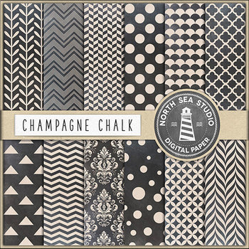 Chalkboard Digital Paper Pack, Printable Backgrounds