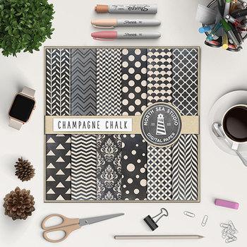 Chalkboard Digital Paper Pack, Printable Backgrounds