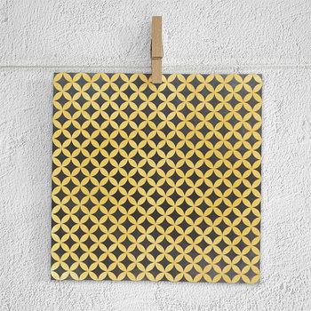 Chalkboard Digital Paper, Yellow Chalk Patterns