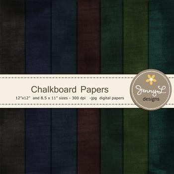 Chalkboard Digital Papers