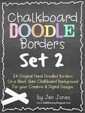 Chalkboard Doodle Borders Bundle - Set 2 {For Personal & C