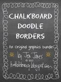 Chalkboard Doodle Borders Bundle - Set of 24