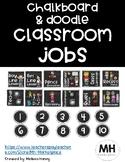 Chalkboard & Doodle - Classroom Jobs