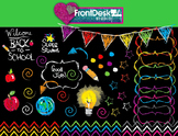 Chalkboard Doodle Clipart
