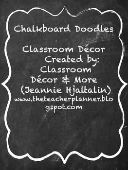 Chalkboard Doodles Classroom Theme