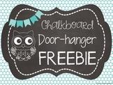 Chalkboard Door-Hanger FREEBIE